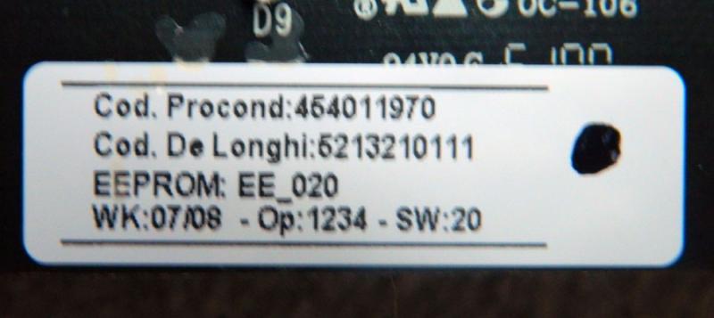 Bedienungsplatine De` Longhi ESAM6600
